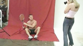 CFNM – Shy Man Has to Strip Naked for Female Photographer