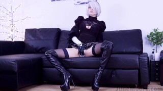 Nier Automata – 2B Solo Masturbate – Game Hentai Porno Cosplay