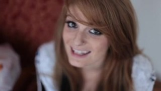 Redhead Faye fucked with her glasses