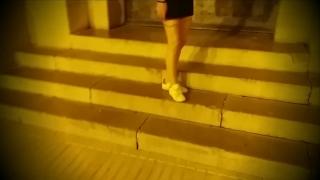 Amateur Teen Public flashing, Public Cum Walk and Sex in Public Garage