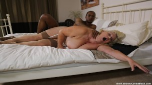 Black Cock Fucks Mature In Her Ass